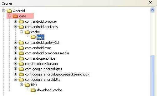 Kişilerin Android de saklandığı yer: kişileri bulma ipuçları